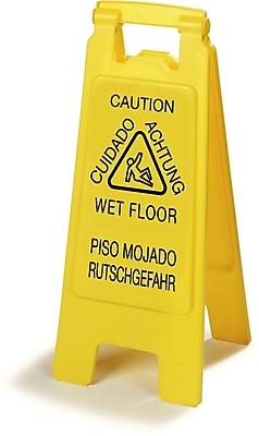 Carlisle Flo-Pac® Economy Wet Floor Sign (English/Spanish/German), 25