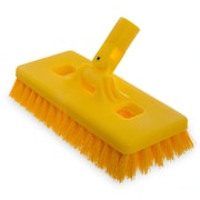 "Carlisle  Swivel Scrub® Floor Scrub Brush With Stiff Polypropylene Bristles, 9"" (4043000)"