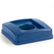Carlisle  Centurian™ Square RECYCLING Waste Container Lid with Bottle and Can Receptacle, 23 Gallon, Blue (343527REC14)