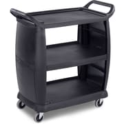 "Carlisle  Small Bussing and Transport Cart, 18"" x 36.25"" x 38"", Black (CC203603)"