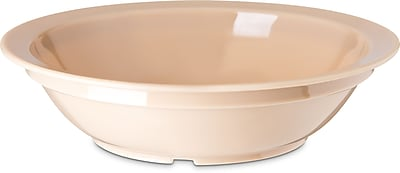 Carlisle Polycarbonate Rimmed Grapefruit Bowl, 10 oz, Tan (PCD31325)