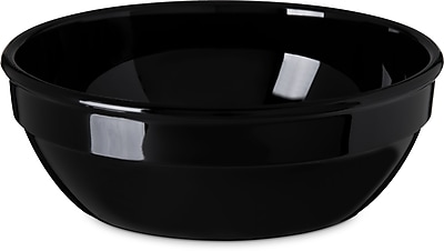 Carlisle Polycarbonate Nappie Bowl, 10 oz, Black (PCD31603)