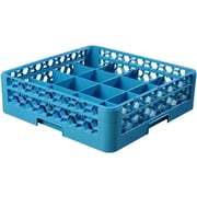Carlisle  OptiClean™ Tilted Cup Rack with One Open Extender, 16 Compartment, Carlisle Blue (RC16-114)