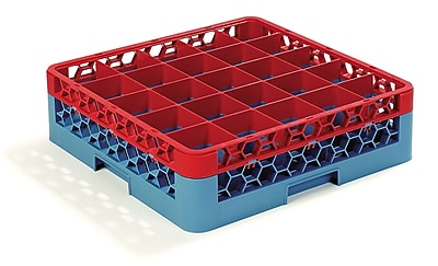 Carlisle OptiClean™ 25 Compartment Glass Rack with 1 Extender, 5.56