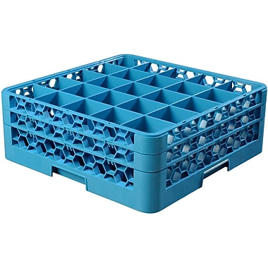 Carlisle OptiClean™ 25 Compartment Glass Rack with 2 Extenders, 7.12
