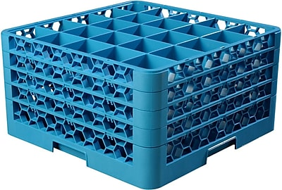 Carlisle OptiClean™ 25 Compartment Glass Rack with 4 Extenders, 10.3