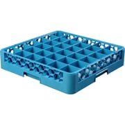 "Carlisle  OptiClean™ 36 Compartment Glass Rack, 4"", Carlisle Blue (RG3614)"