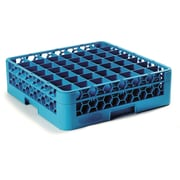 "Carlisle  OptiClean™ 49 Compartment Glass Rack with 1 Extender, 5.56"", Carlisle Blue (RG49-114)"