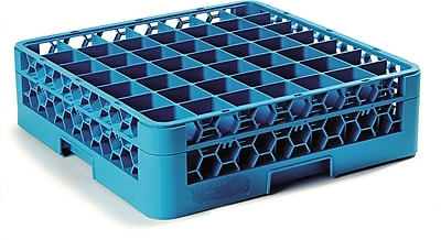 Carlisle OptiClean™ 49 Compartment Glass Rack with 1 Extender, 5.56