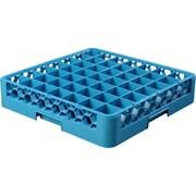 "Carlisle  OptiClean™ 49 Compartment Glass Rack, 4"", Carlisle Blue (RG4914)"