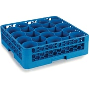 Carlisle  OptiClean™ NeWave™ Glass Rack with Two Extenders, 20 Compartment, Carlisle Blue (RW20-114)