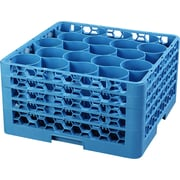 Carlisle  OptiClean™ NeWave™ Glass Rack with Four Extenders, 20 Compartment, Carlisle Blue (RW20-314)