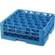 Carlisle  OptiClean™ NeWave™ Glass Rack with Two Extenders, 30 Compartment, Carlisle Blue (RW30-114)