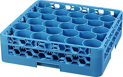 Carlisle OptiClean™ NeWave™ Glass Rack with Integrated Extender, 30 Compartment, Carlisle Blue (RW3014)