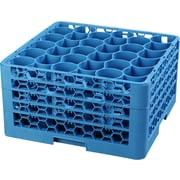 Carlisle  OptiClean™ NeWave™ Glass Rack with Four Extenders, 30 Compartment, Carlisle Blue (RW30-314)