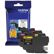 Brother LC3019 Yellow/Cyan/Magenta Super High Yield Ink Cartridges, 3/Pack (LC30193PKS)