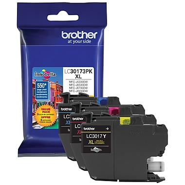 Brother – Cartouche d'encre tricolore jaune/cyan/magenta LC301, paq./3 (LC30173PKS)
