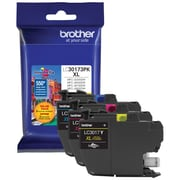 Brother LC3017 Yellow/Cyan/Magenta Ink Cartridges, High Yield, 3/Pack (LC30173PKS)