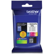 Brother LC3029 Yellow/Cyan/Magenta Ink Cartridges, Super High Yield, 3/Pack (LC30293PKS)