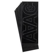 Westcott – Lettres Helvetica de 3 po en vinyle, majuscules et chiffres, noir, paq./4