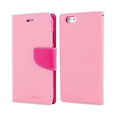 Mercury Fancy Diary Cell Phone Case for iPhone 7, Pink/Hot Pink (MR-FD-iP7-PH)