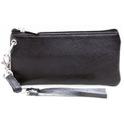 Ashlin® DESTINY Wristlet and Cosmetic Bag with Removable Wrist Strap, Black