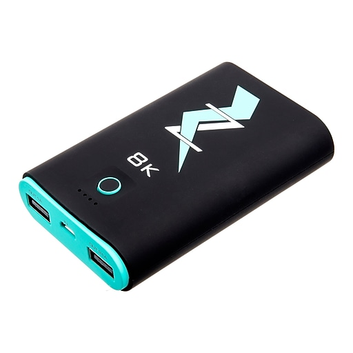 Z Bank 8,000 MAH Dual Output Portable Charger, Turquoise