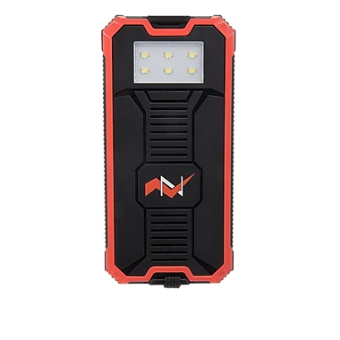 Z Bank 12,000 MAH Solar Charger with Built-In LED Light, Coral