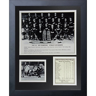 Legends Never Die 1955 Detroit Red Wings Champions Framed Memorabilia