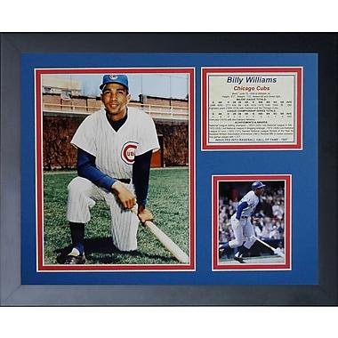 Legends Never Die Billy Williams Framed Memorabilia