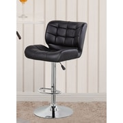 United Chair Industries LLC Adjustable Height Swivel Bar Stool; Black