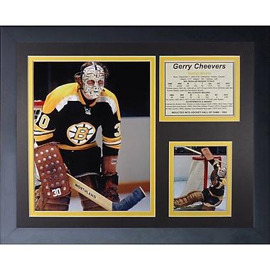 Legends Never Die Gerry Cheevers - Boston Bruins Framed Memorabilia