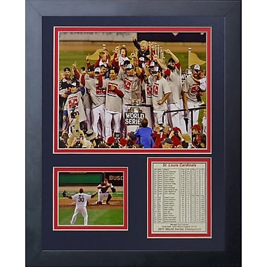 Legends Never Die 2011 St. Louis Cardinals Podium Framed Photographic Print