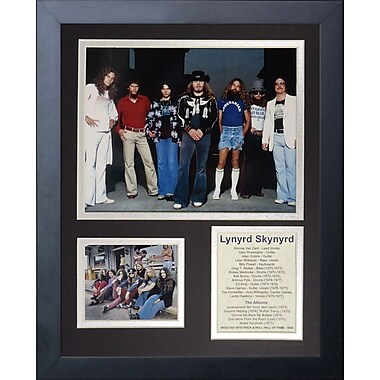 Legends Never Die Lynyrd Skynyrd Framed Memorabilia