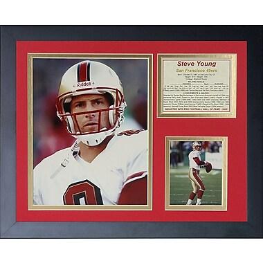 Legends Never Die Steve Young Framed Memorabilia