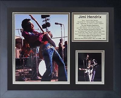 Legends Never Die Jimi Hendrix III Framed Memorabilia