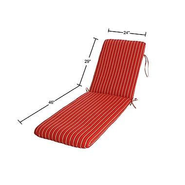 Buyers Choice Phat Tommy Outdoor Sunbrella Chaise Lounge Cushion; Crimson