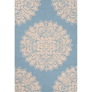 Charlton Home Norton Polyester Blue Hand Tufted Area Rug; 5' x 7'6''
