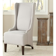 Darby Home Co Parris Side Chair; Taupe with Nailhead Trim