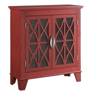 Darby Home Co Shrewsbury 2 Door Accent Cabinet; Red