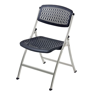 Mity Lite Flex One Folding Chair Set Of 40 Black Silver