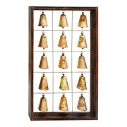 Cole & Grey Wood / Metal Bell Frame Wall D cor