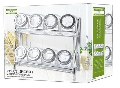 Euro-Ware Glass 8-Jar Free-Standing Spice Rack