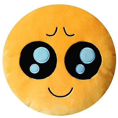 BH Home Emoji Series Expression Pity Face Cotton Throw Pillow