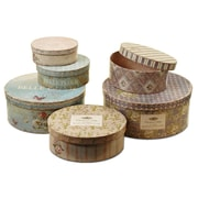 WholeHouseWorlds French Stackable Storage 6 Piece Box Set