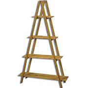 WholeHouseWorlds A-Frame 4 Tier Folding Standard Baker's Rack