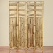 WholeHouseWorlds 70.9'' x 63'' Key West Bamboo 4 Panel Room Divider
