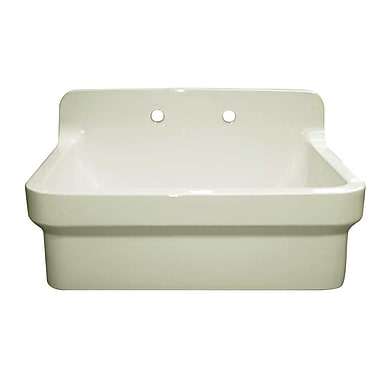 Whitehaus Collection Old Fashioned Country 30'' x 22'' Kitchen Sink; Biscuit