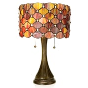 Warehouse of Tiffany Tiffany Style Modern 22'' Table Lamp; Red