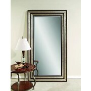 Darby Home Co Rectangle Silver and Merlot Wood Leaner Mirror